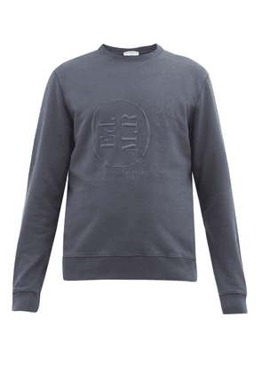 Éditions M.R - League Logo-embroidered Cotton-loopback Sweatshirt - Mens - Navy