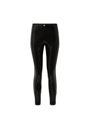 Marc Jacobs Sequined Stretch-crepe Leggings Woman Black Size 2