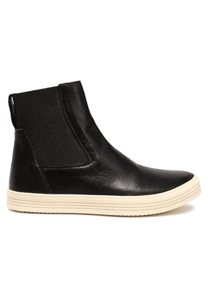 Rick Owens Mastodon Leather High-top Sneakers Woman Black Size 35