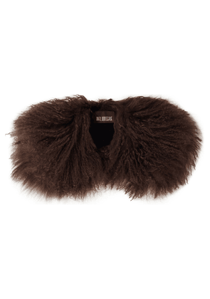Karl Donoghue Shearling Collar Woman Chocolate Size --