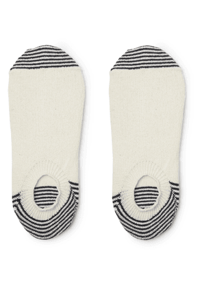 Anonymous Ism - Striped Knitted No-show Socks - White