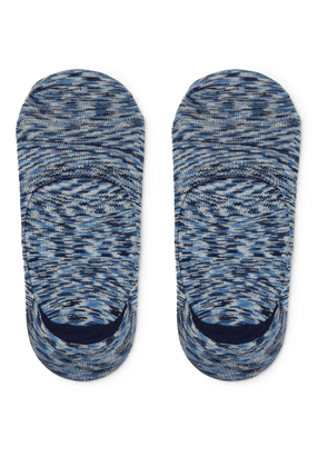 Anonymous Ism - Mélange Knitted No-show Socks - Blue