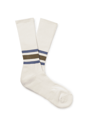 Anonymous Ism - Striped Knitted Socks - Neutrals