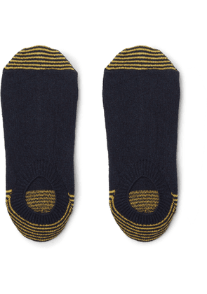 Anonymous Ism - Striped Knitted No-show Socks - Blue