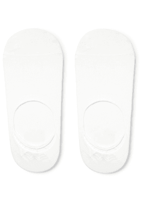 Anonymous Ism - Mélange Knitted No-show Socks - White