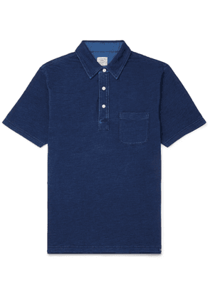 Faherty - Garment-dyed Cotton-jersey Polo Shirt - Blue