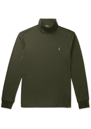 Polo Ralph Lauren - Pima Cotton-jersey Rollneck Sweater - Green