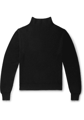 The Row - Daniel Ribbed Cashmere Rollneck Sweater - Black