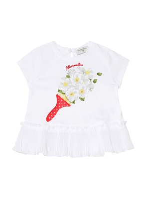 Baby printed stretch-cotton T-shirt