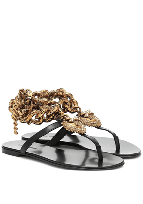 Devotion leather sandals