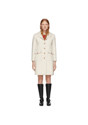 Gucci Off-White Wool Single-Breasted Coat