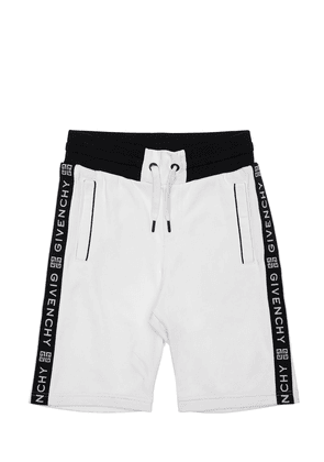 Cotton Sweat Shorts W/ Logo Bands