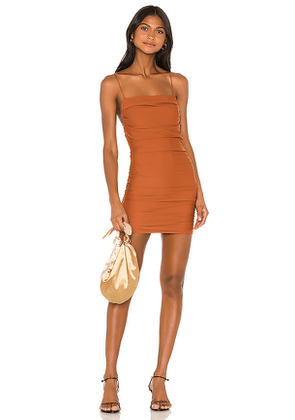 superdown Sonora Cross Back Dress in Brown. Size L.