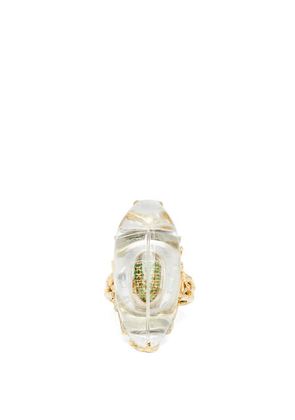 Bibi Van Der Velden - Through The Looking Glass Diamond & 18kt Gold Ring - Womens - Gold