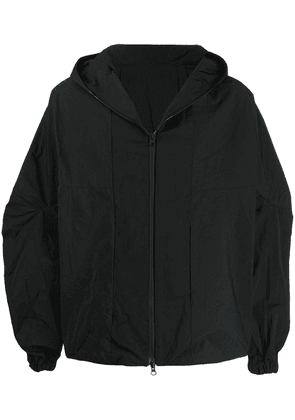 Côte & Ciel front zip hooded jacket - Black