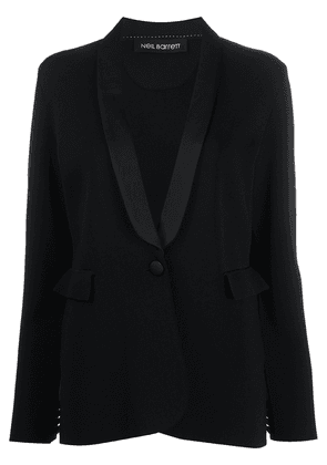 Neil Barrett single-breasted fitted blazer - Black