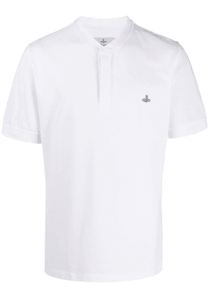 Vivienne Westwood embroidered Orb polo shirt - White