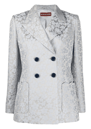 Alexa Chung double-breasted floral blazer - Grey