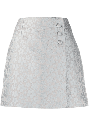 Alexa Chung A-line embroidered floral skirt - Grey