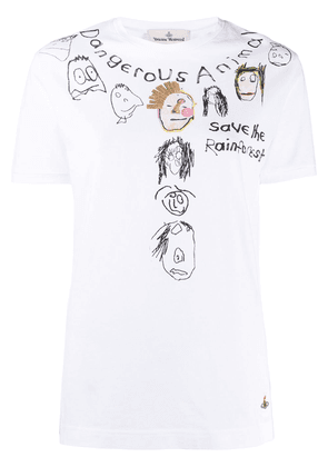 Vivienne Westwood sketch print short-sleeve T-shirt - White