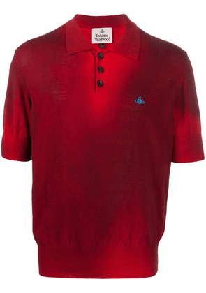 Vivienne Westwood logo short-sleeve polo shirt - Red