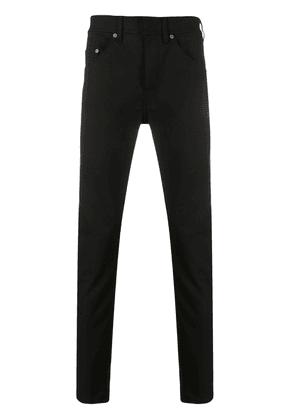 Neil Barrett brand patch slim-fit jeans - Black