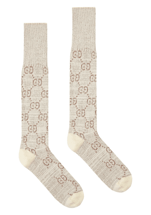 Gucci cotton lamé socks - NEUTRALS