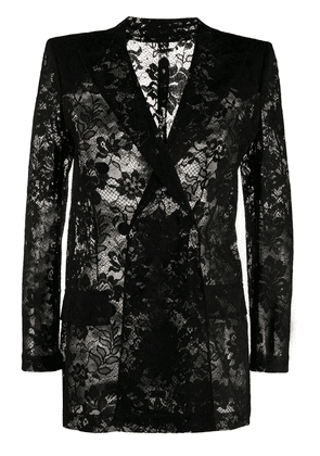 Givenchy double-breasted jacket in lace - Black