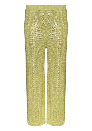 Gucci Strass crystal knit trousers - Green