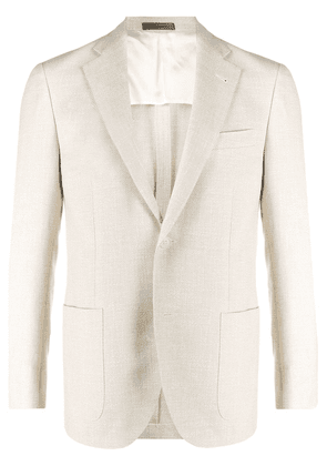 Corneliani textured slim-fit suit jacket - NEUTRALS