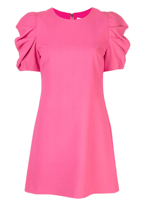 Alice+Olivia Hanita puff sleeve shift dress - PINK