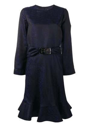 Giorgio Armani belted peplum dress - Blue