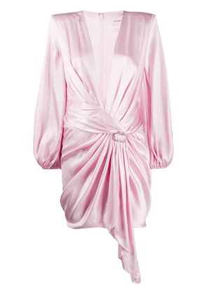 Alexandre Vauthier satin gathered dress - PINK