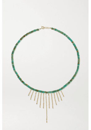 Pascale Monvoisin - Taylor N°3 Turquoise, 9 And 14-karat Gold Necklace - one size