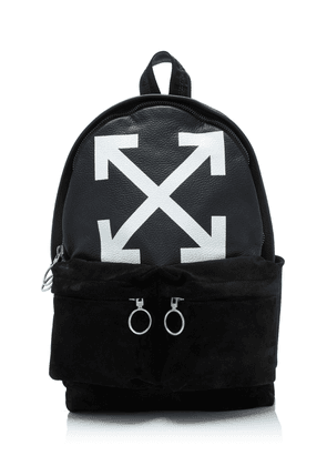 Off-White c/o Virgil Abloh Printed Leather And Suede Backpack