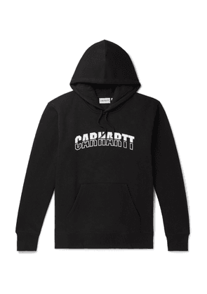 Carhartt WIP - District Logo-print Fleece-back Cotton-blend Jersey Hoodie - Black