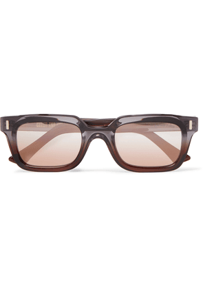 Cutler and Gross - Rectangle-frame Acetate Sunglasses - Brown