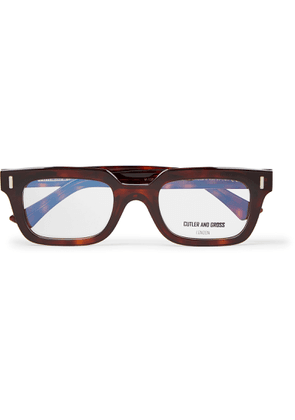 Cutler and Gross - Square-frame Tortoiseshell Acetate Optical Glasses - Brown