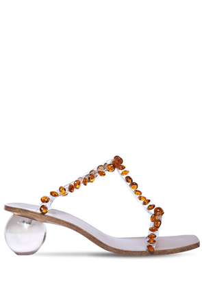 55mm Clio Embellished Pvc Sandals