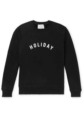 Holiday Boileau - Logo-print Loopback Organic Cotton-jersey Sweatshirt - Black