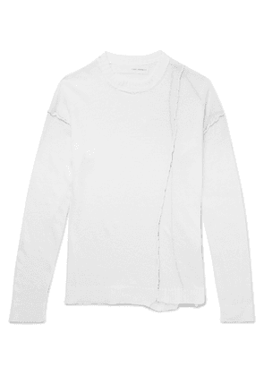 Isabel Benenato - Distressed Linen Sweater - White
