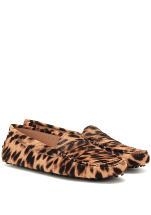 Gommino calf hair loafers