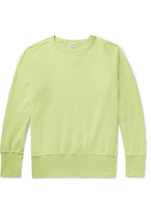 Levi's Vintage Clothing - Bay Meadows Loopback Cotton-jersey Sweatshirt - Green
