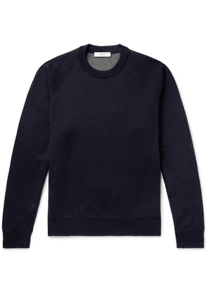 Mr P. - Double-faced Knitted Sweater - Blue