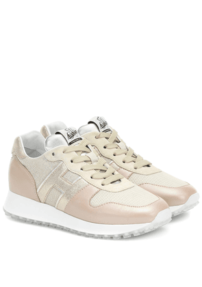 H429 Runner leather and suede sneakers