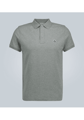 Short-sleeved polo shirt with logo