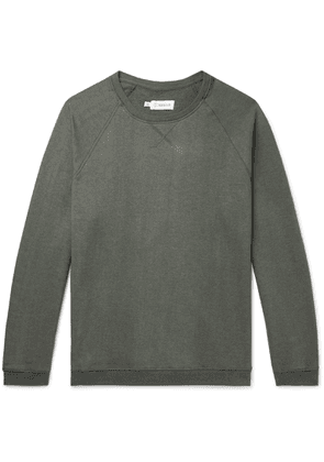 Satta - Kona Mélange Loopback Hemp And Organic Cotton-blend Jersey Sweatshirt - Gray