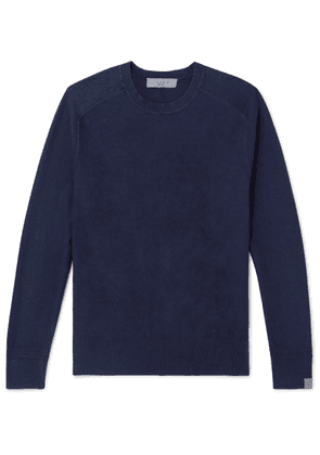 rag & bone - Lance Garment-dyed Cotton Sweater - Blue