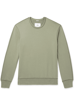 Reigning Champ - Loopback Cotton-jersey Sweatshirt - Green