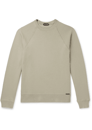TOM FORD - Slim-fit Garment-dyed Fleece-back Cotton-jersey Sweatshirt - Green